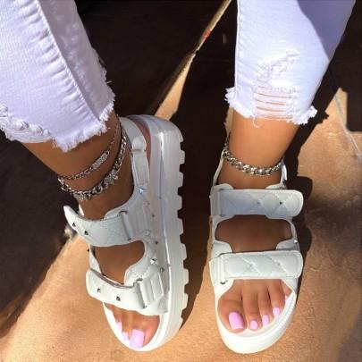 Rivet Small Fragrance Velcro  Sandals Wholesale Women's Clothing Nihaostyles NSLAX67870