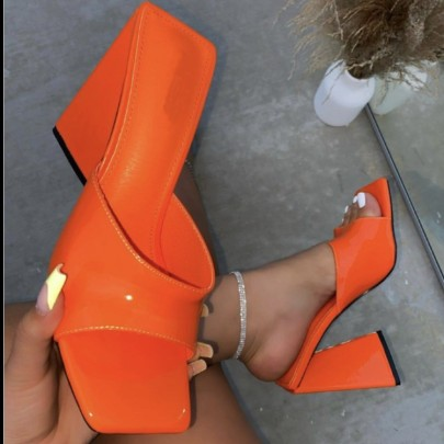 Thick High Heels Square Toe Sandals Wholesale Women's Clothing Nihaostyles NSLAX67878