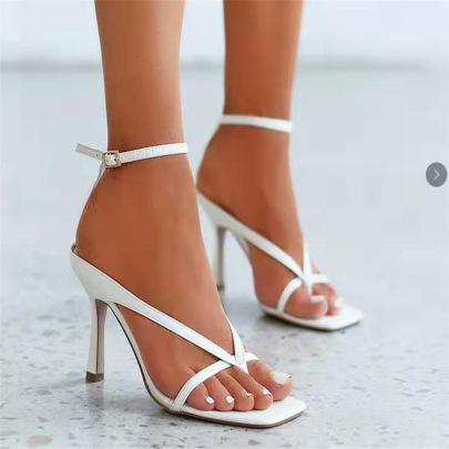 New Large Size Square Toe High-heeled Sandals Nihaostyle Clothing Wholesale NSHYR67897