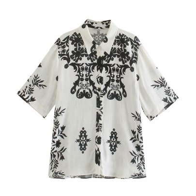Summer Printing Women's Shirt Top Nihaostyle Clothing Wholesale NSAM67931