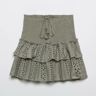Summer Hollow Embroidery Skirt Nihaostyle Clothing Wholesale NSAM67932