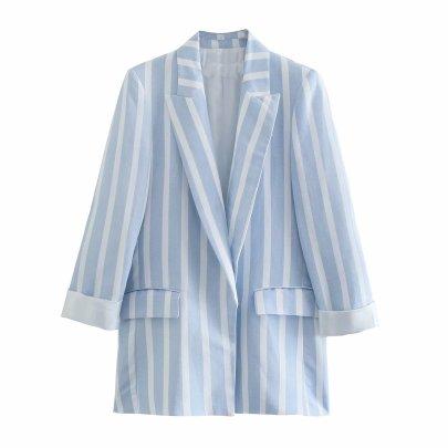 Summer Linen Women's Suit Jacket Nihaostyle Clothing Wholesale NSAM67936