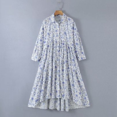 Summer Irregular Long Sleeve Long Dress Nihaostyle Clothing Wholesale NSAM67939