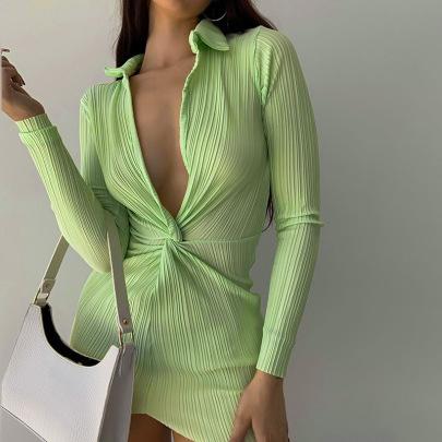 Women's Autumn New Style Sexy Tight-fitting Dress Nihaostyle Clothing Wholesale NSYLF68015