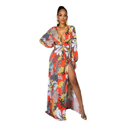 Women's Summer Print Long Skirt Nihaostyle Clothing Wholesale NSXHX68036