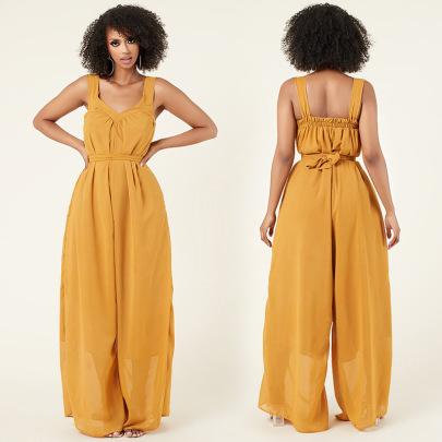 Summer New Thin Chiffon Jumpsuit Nihaostyle Clothing Wholesale NSXHX68037