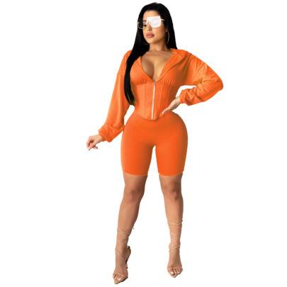 Women's Short-sleeved Fashion Set Nihaostyle Clothing Wholesale NSXHX68038