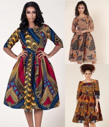 Printing U-shaped Back Sexy Women's Mid-sleeve Dress Nihaostyle Clothing Wholesale NSMDF67668