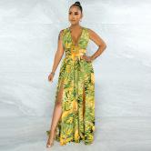 New Fashion Print Sexy Sling Dress Nihaostyle Clothing Wholesale NSCYF68166