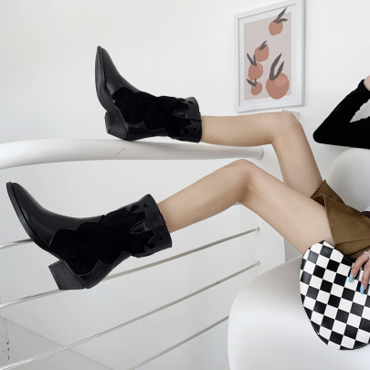 Autumn And Winter Low Heel Pointed Toe Boots Nihaostyle Clothing Wholesale NSZSC68272