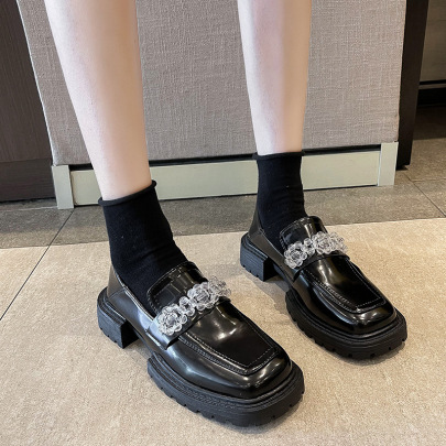 Women's Summer New Square Toe Thick-soled Shoes Nihaostyle Clothing Wholesale NSZSC68275
