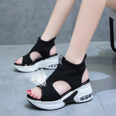 Summer New Open Toe Mesh Hollow Sandals Nihaostyle Clothing Wholesale NSZSC68283