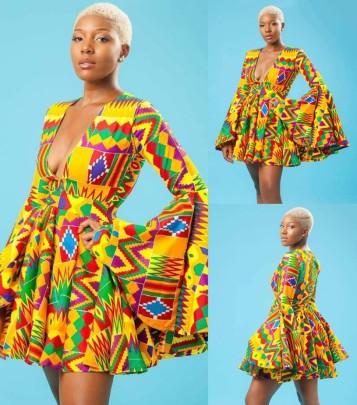 Summer Fashion V-neck Long-sleeved Dress Nihaostyle Clothing Wholesale NSMDF67962