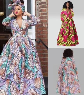 Printing Long-sleeved High-waisted Slim Mid-length Dress Nihaostyle Clothing Wholesale NSMDF67658