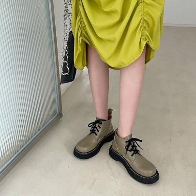 Nihaostyle Clothing Wholesale Autumn And Winter New Fashion Round Toe Short Boots NSHU65514