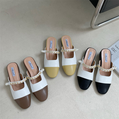 Nihaostyle Clothing Wholesale Summer New Style Flat With One Word Belt Outer Wear Flat Sandals NSHU65520