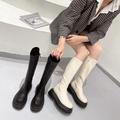 Nihaostyle Clothing Wholesale Autumn And Winter New Fashion Small Tall Boots NSHU65545