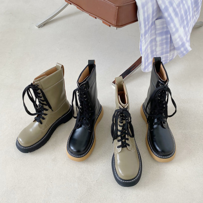Nihaostyle Clothing Wholesale Autumn And Winter New Fashion Thick-soled Martin Boots NSHU65554