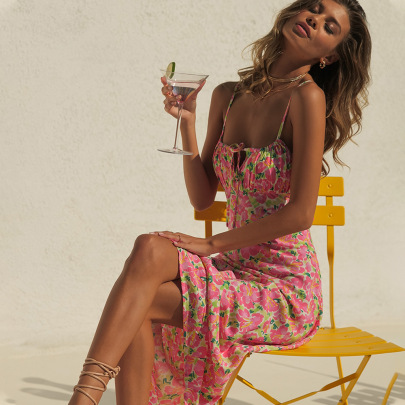 Nihaostyle Clothing Wholesale Summer One-shoulder Open Back Suspender Skirt NSAG65577