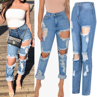 Nihaostyle Clothing Wholesale Loose Big Size Sexy High Waist Jeans NSWL65611