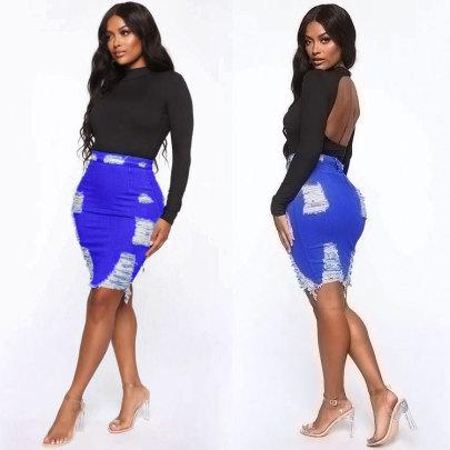 Nihaostyle Clothing Wholesale Hip Skirt NSWL65618