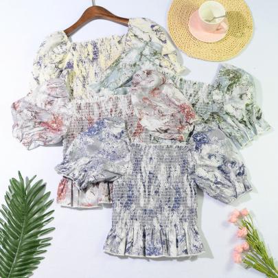 Nihaostyle Clothing Wholesale Summer Retro Little Sexy Shirt NSYAY65751