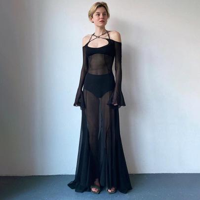 Women's Summer New Lace-up Back Long Skirt Nihaostyle Clothing Wholesale NSHLJ68346
