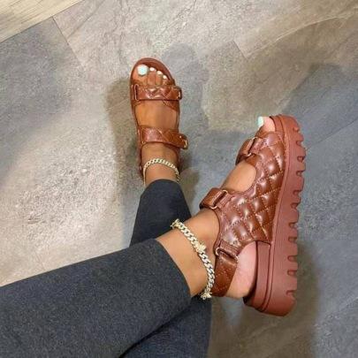 Velcro Platform Sandals Wholesale Women's Clothing Nihaostyles NSHYR68359