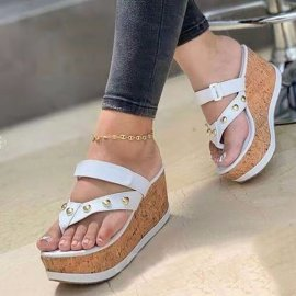 Thick Bottom Willow Nails Fashion High-heeled Sandals Wholesale Women's Clothing Nihaostyles NSHYR68362