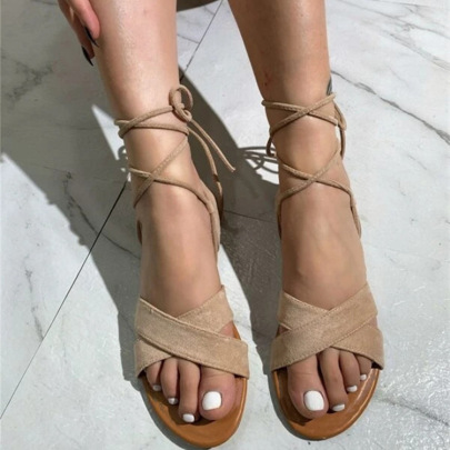 Sexy Flat Suede Foot Ring Strap Sandals Wholesale Women's Clothing Nihaostyles NSHYR68364