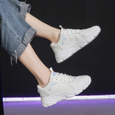 White Increased Lightweight Travel Running Shoes Wholesale Women's Clothing Nihaostyles NSSC68369