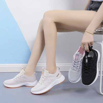 Mesh Lightweight Flying Knitting Shoes Wholesale Women's Clothing Nihaostyles NSSC68370