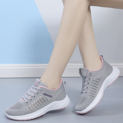 Fashion Lace-up Mesh Sneakers Wholesale Women's Clothing Nihaostyles NSSC68371