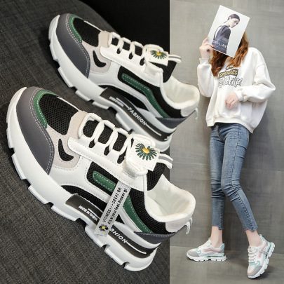 Color Matching Breathable Mesh Sneakers Wholesale Women's Clothing Nihaostyles NSSC68375