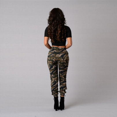 Women's Casual Camouflage Printed Trousers Nihaostyle Clothing Wholesale NSWL68437