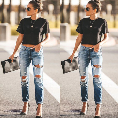 Jeans Ripped Pants Nihaostyle Clothing Wholesale NSWL68440