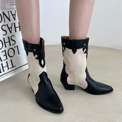 Western Cowboy Boots Pointed Toe Knight Boots Wholesale Women's Clothing Nihaostyles NSCA68457