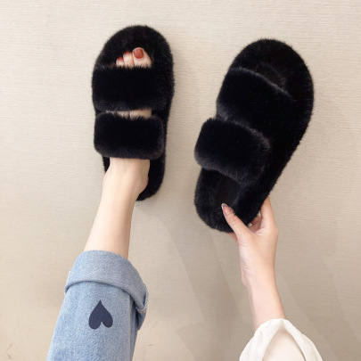 New Style Plush Thick Bottom Soft Slippers Nihaostyle Clothing Wholesale NSPE68465