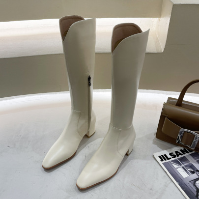 Pointed Toe Knee Boot Wholesale Women's Clothing Nihaostyles NSZSC68471