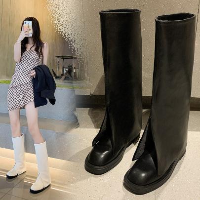 Fashion Plain Color Long Boots Wholesale Women's Clothing Nihaostyles NSZSC68477