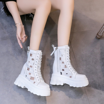 Thick-soled Increase Double-side Zipper Casual Boots Wholesale Women's Clothing Nihaostyles NSZSC68482