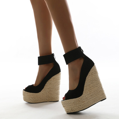 Ankle Strap Wedges Sandals Wholesale Women's Clothing Nihaostyles NSSO68509