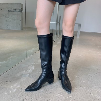 Thick Heel High Boots Nihaostyle Clothing Wholesale NSHU68513