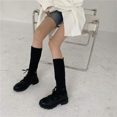 Autumn And Winter New Fashion Thick Heel High Boots Nihaostyle Clothing Wholesale NSHU68515