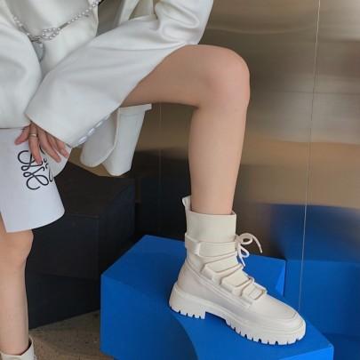 New Fashion Thick-heeled Martin Boots Nihaostyle Clothing Wholesale NSHU68517