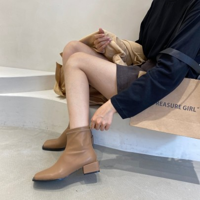 New Fashion Thick-heeled Martin Boots Nihaostyle Clothing Wholesale NSHU68522