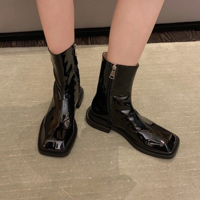 Autumn And Winter New Fashion Thick-heeled Martin Boots Nihaostyle Clothing Wholesale NSHU68527