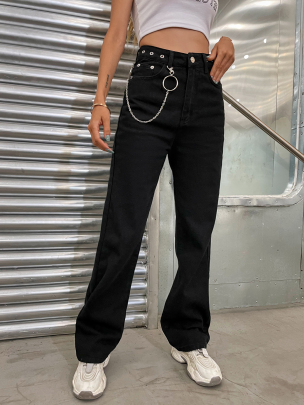 Fashion Straight Loose Solid Color Pants Wholesale Clothing Vendor Nihaostyles NSOUY68710