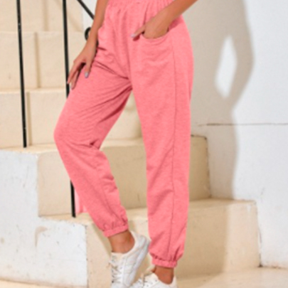 Fashion All-match High Waist Casual Sports Trousers Wholesale Clothing Vendor Nihaostyles NSOUY68768