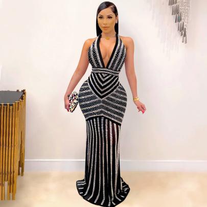 Fashion Sexy Deep V Backless Dress Nihaostyle Clothing Wholesale NSXYZ68531